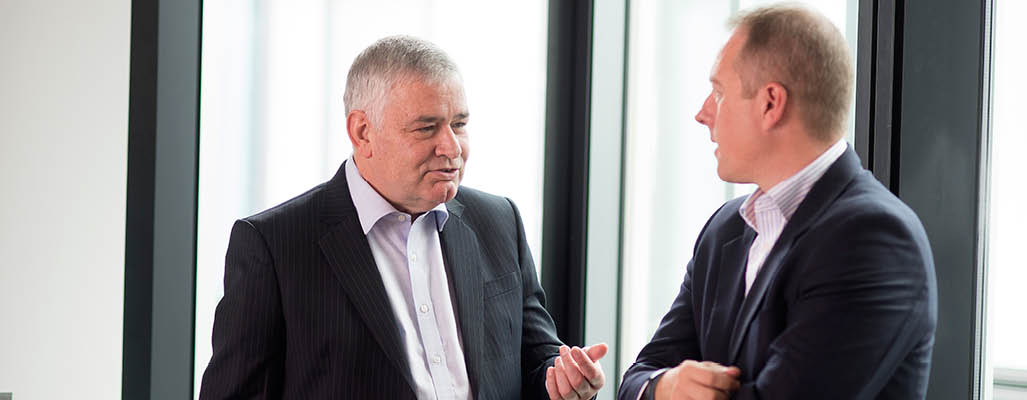 Ian Woodhouse and Paul Mawson from PwC, Asset and Wealth Management