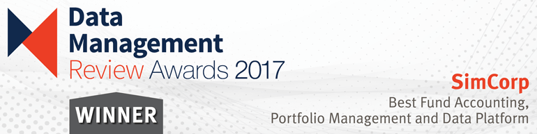 Data Management Review Awards 2017 - SimCorp